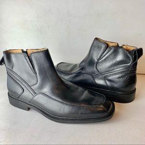 Florsheim Mens Black Leather Welter Dress Boots 13